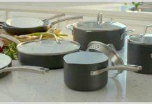 Calphalon 11pc classic ceramic nonstick cookware